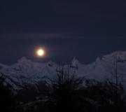 Maanlicht nendaz met kerstmis